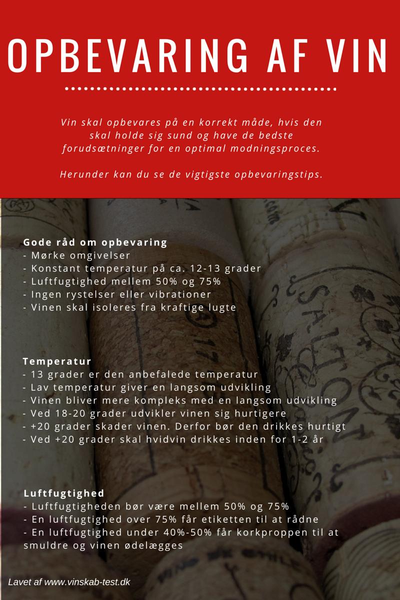 opbevaring af vin infografik